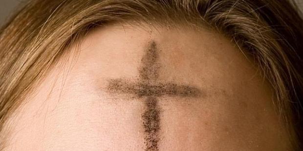 Kors i panden askeonsdag